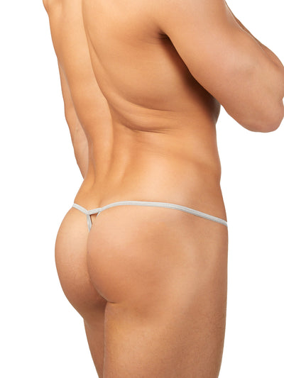 Men's white g string thong