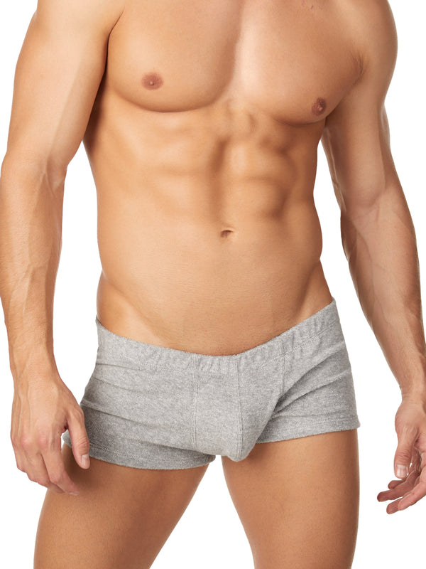 Men's grey terry shorts
