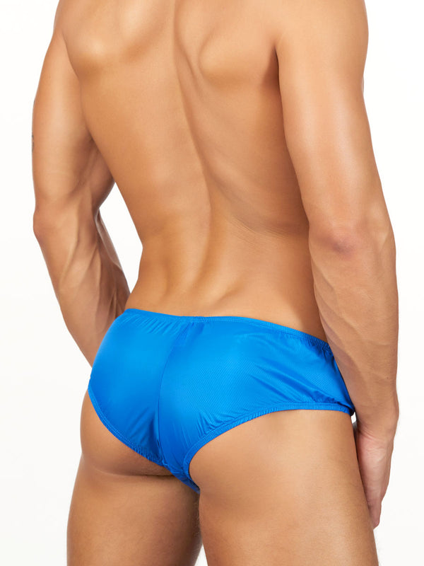 Men's blue nylon briefs