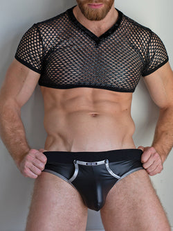 men's mesh crop top