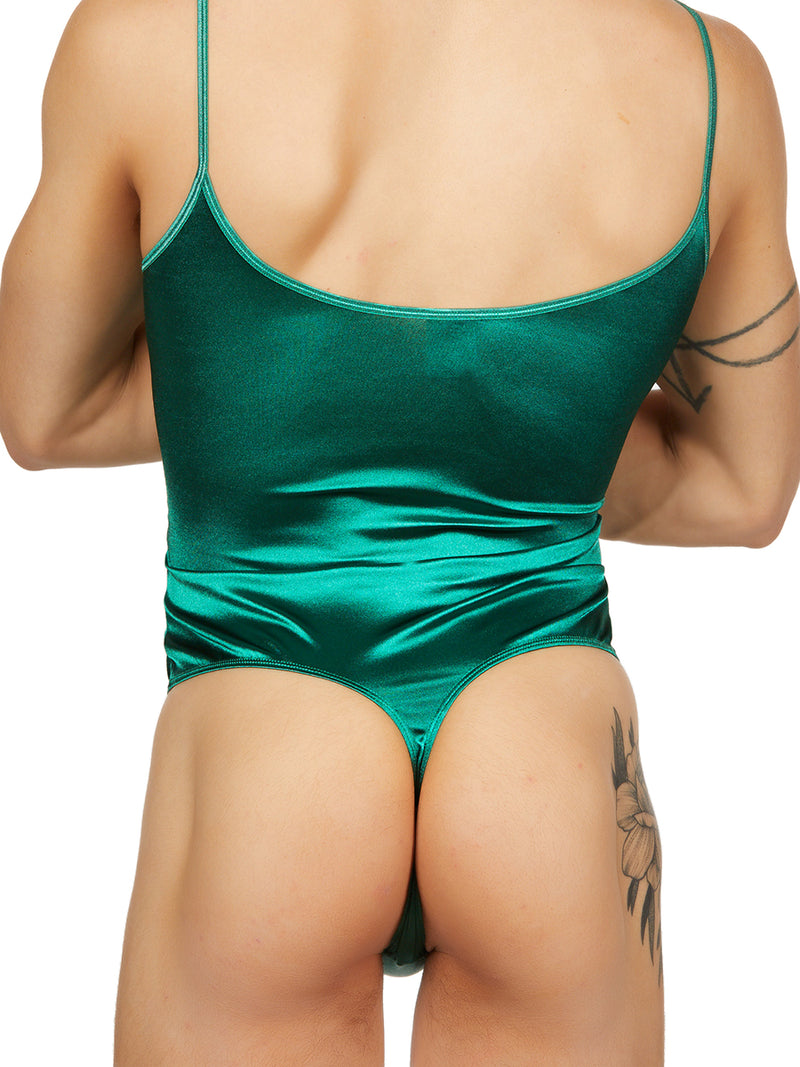 Slim Satin Thong Bodysuit