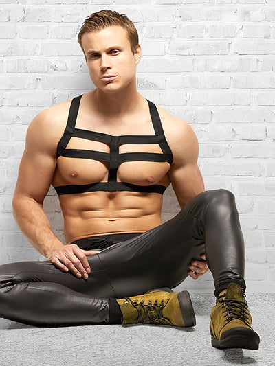 Men's Black Fetish Harness