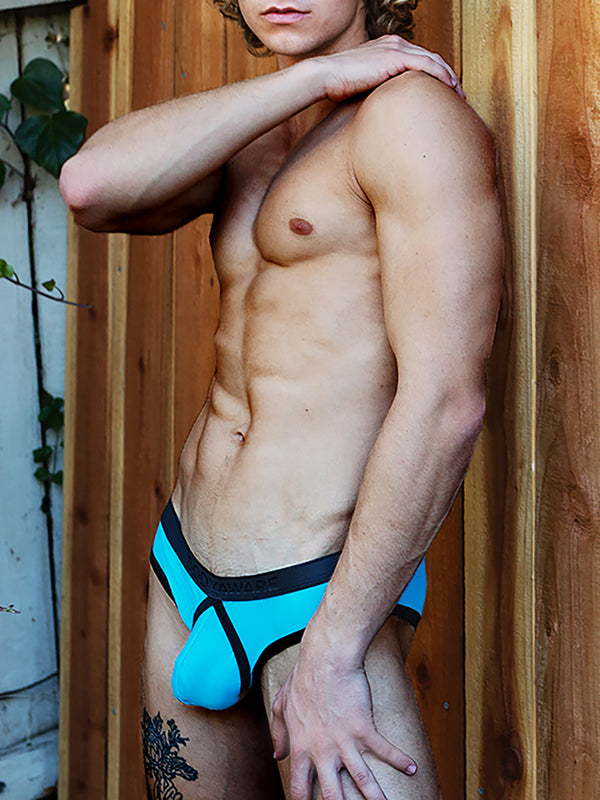 men's blue see through briefs