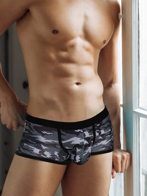men's camouflage mesh boxer briefs