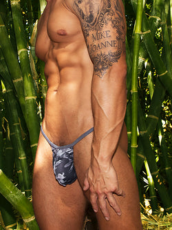 men's camouflage g-string thong