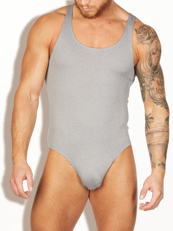 men's grey bodysuit