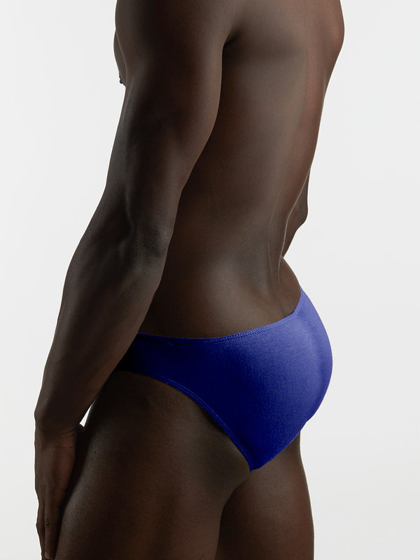 Men's Blue Bikini Cut Briefs