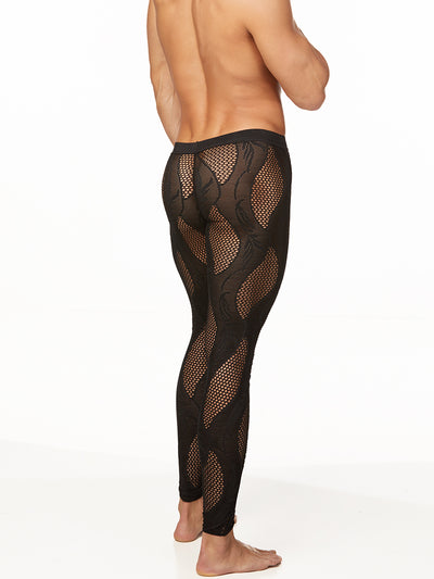 Men's fishnet & Lace Leggings