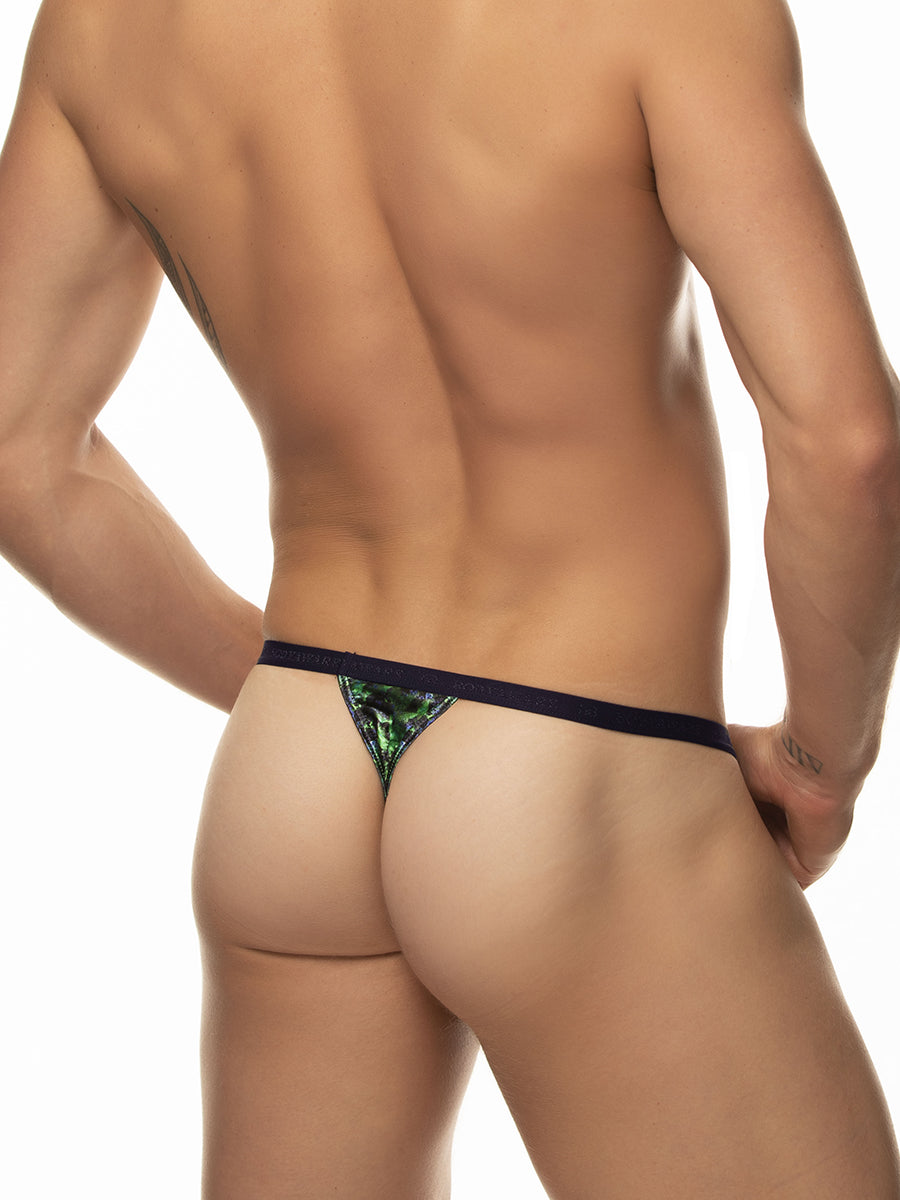 Sleek Sporty Satin Thong