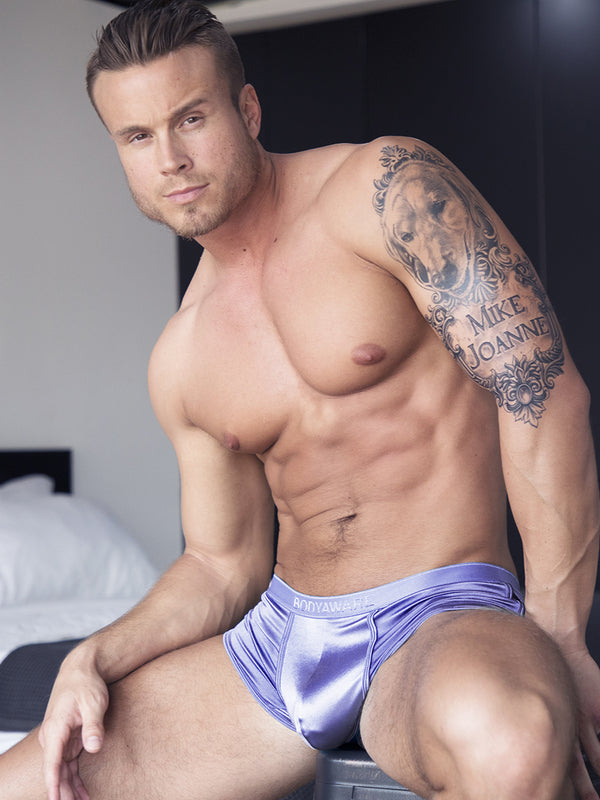 Glossy Satin Boxer Brief