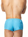 men's blue drawstring shorts
