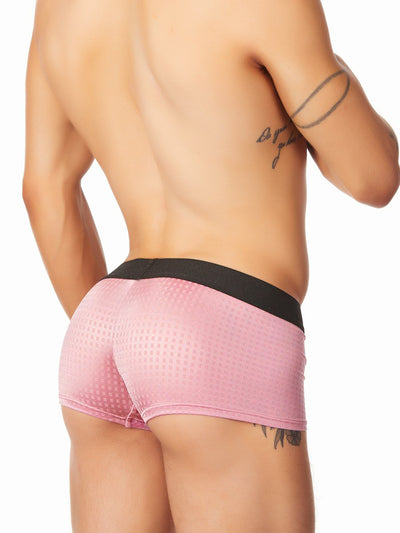 Men's pink satin boxer briefs