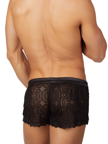 Square-Cut Lace Short