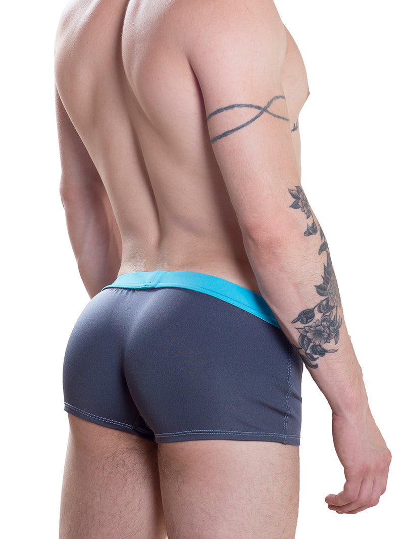 Men's grey retro swim trunks