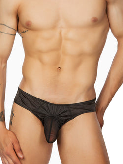 Nylon and Mesh Keyhole Brief