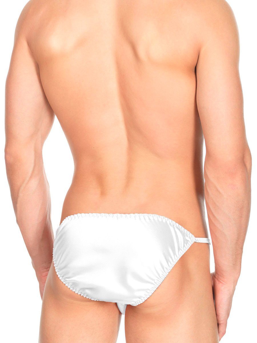 Men's Ruffled Satin Tanga