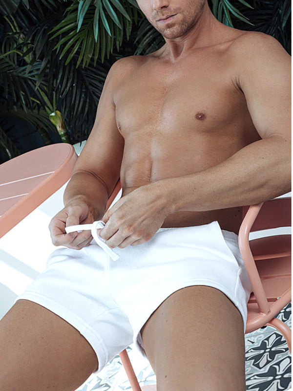 men's white gym shorts