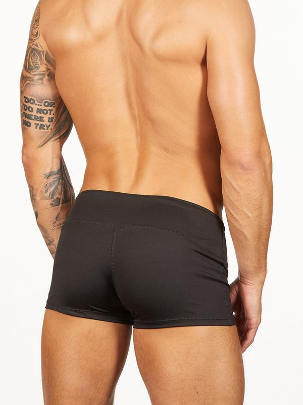 Men's black short shorts