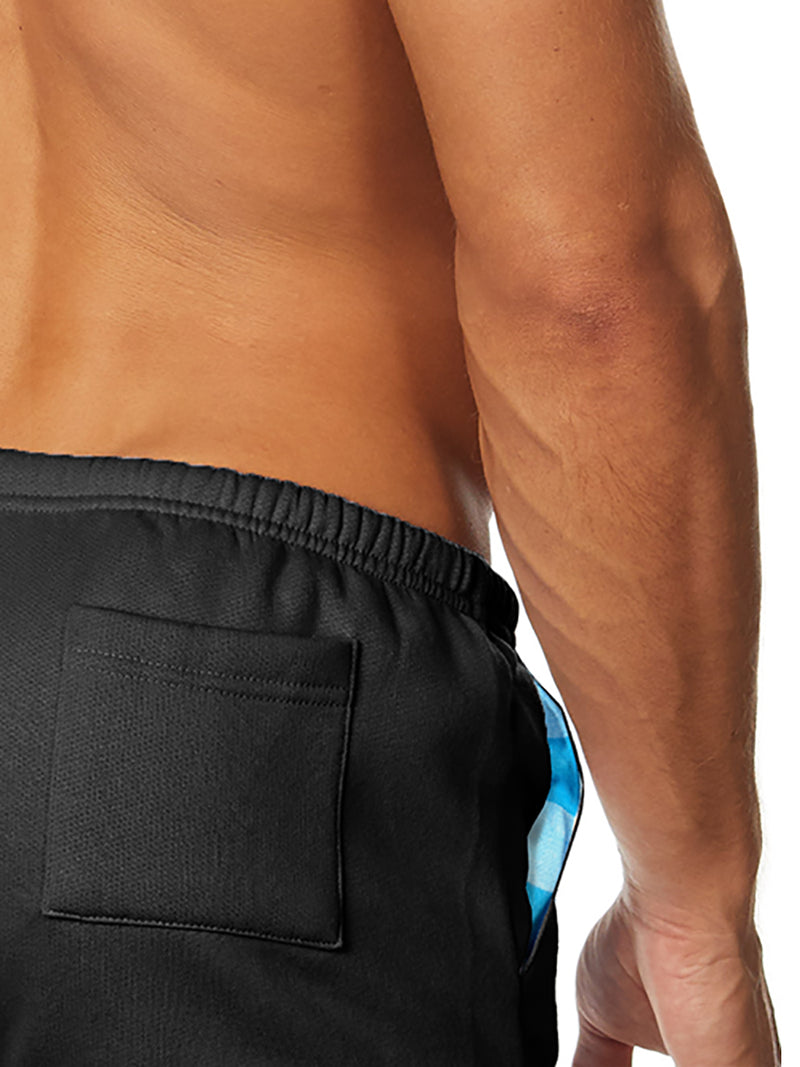 men's black fleece shorts