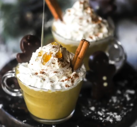 easy salted caramel gingerbread smoothie recipe