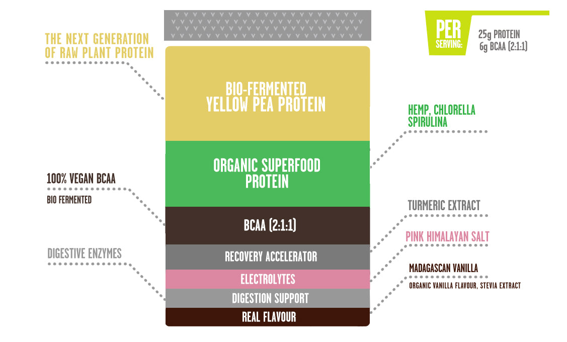 PERFORM:raw plant protein vanilla, Whats inside