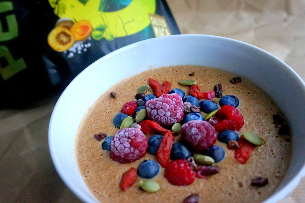 Whipped protein oats