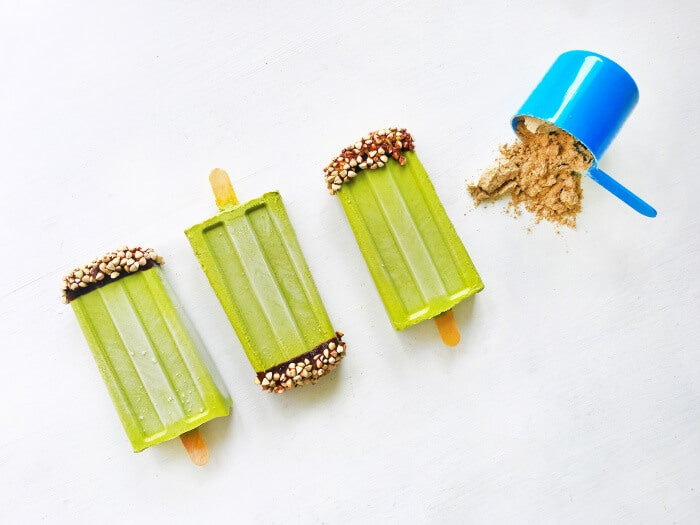 Mint protein fudgsicles