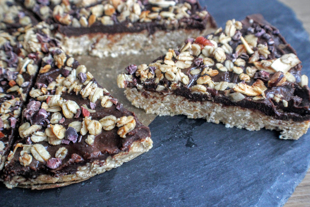 Chocolate coconut protein slice