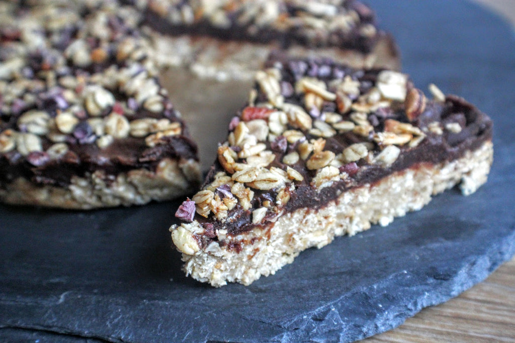 Protein chocolate coconut slice