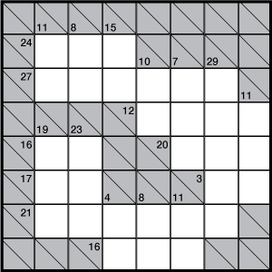 graphic regarding Kakuro Puzzles Printable called Kakuro Medium Puzzle Gross sales