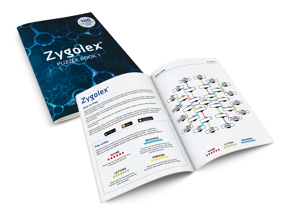 Zygolex printed book