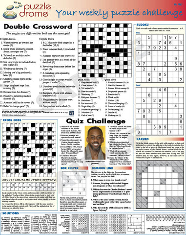 PZW003 (1-page Puzzle Supplement)