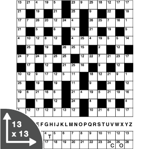Cross Code — 13x13 grid