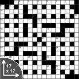 Crossword — Cryptic — 17x17 grid