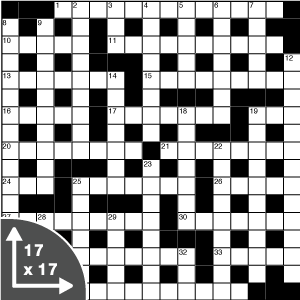 Crossword — Quick — 17x17 grid