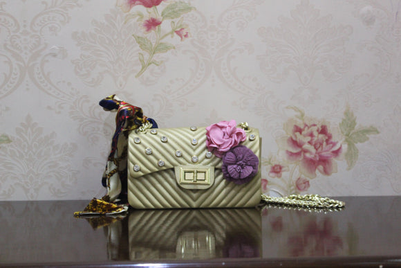 BABG-009 BEIGE SHOULDER BAG