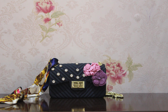 BABG-009 BLACK SHOULDER BAG
