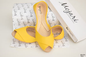Mojari XP-SS-074 Yellow Peep Toe Khussa