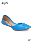 Mojari RG-SS-610 Blue Cut Work Khussa