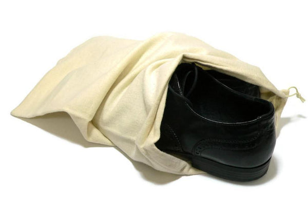 Shoe Storage Bag - Natural Fabric Material by Valentino Garemi - valentinogaremi-usa