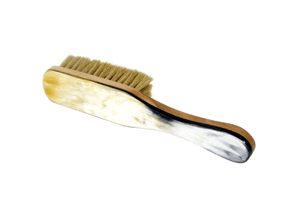 Shoe Brush With Oxhorn Backed Handle by Abbeyhorn England - valentinogaremi-usa