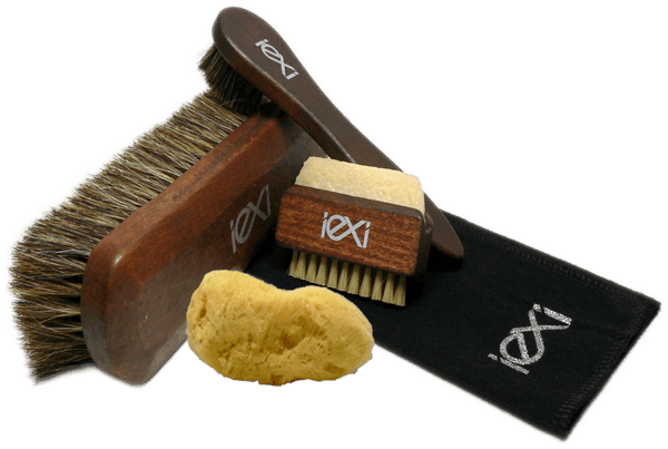 Shoe Brush Set with Horsehair Shine & Applicators by Iexi Italy - valentinogaremi-usa