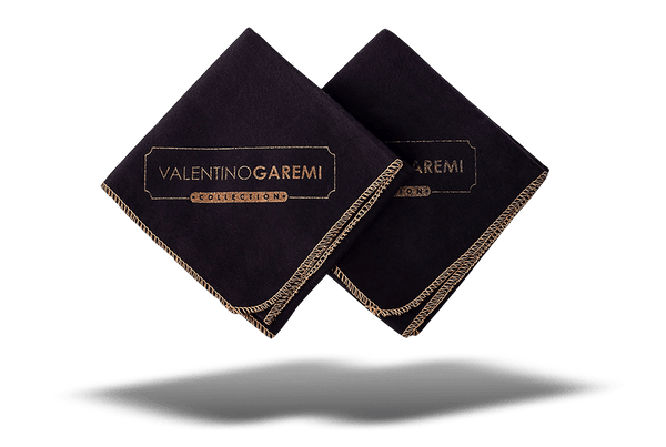 Shoe Polishing & Buffing Cloth – Black Edition by Valentino Garemi - valentinogaremi-usa