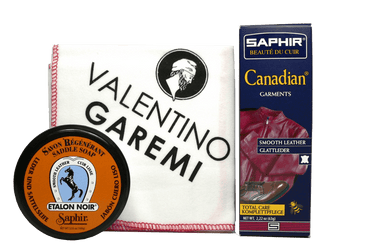 Leather Garments Clean & Care Set – Maintenance Kit by Saphir France - valentinogaremi-usa