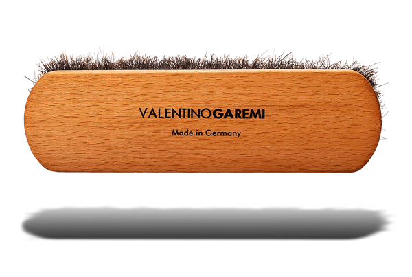 Shoe Shine Brush – Long Shaft Slotted Horsehair by Valentino Garemi - valentinogaremi-usa