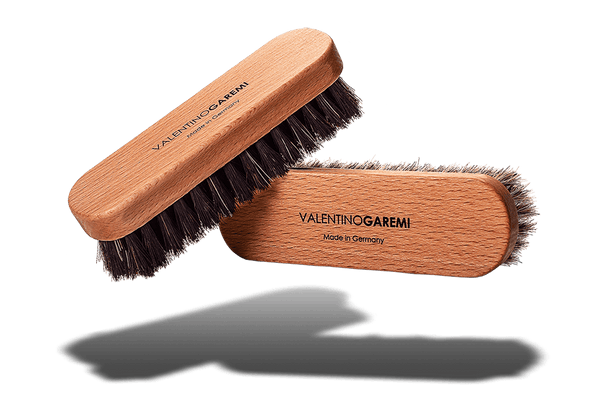 Travel Shine Shoe Brush - Wood Frame & Horsehair by Valentino Garemi - valentinogaremi-usa