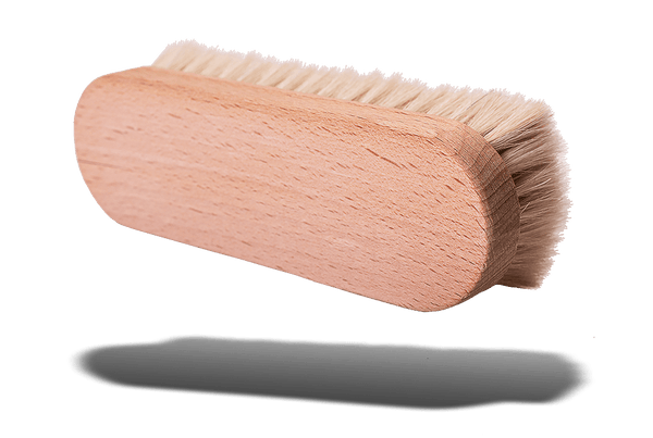 Travel Shoe Shine Brush – Classic Soft Goat Hair by Valentino Garemi - valentinogaremi-usa