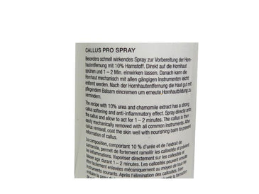 Callus Spray Pro - Thick Dry Skin - 10% Urea by Yards Camillen Germany - valentinogaremi-usa