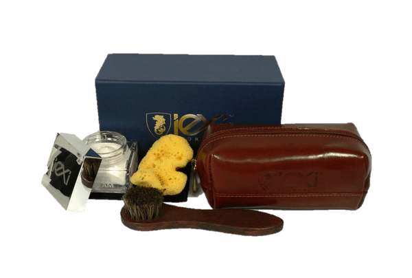 Luxury Shoe Care Set – Travel Shine Kit Gift Edition by IEXI Italy - valentinogaremi-usa