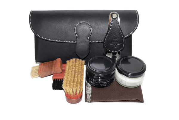Shoe Care Kit - Travel Shoe Care Set - Cartridge by La Cordonnerie Anglaise France - valentinogaremi-usa